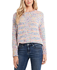 CeCe Rainbow Marled-Knit Sweater