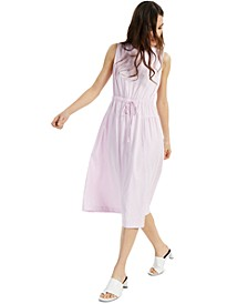 Drawstring-Waist Fit-and-Flare Dress, Created for Macy's