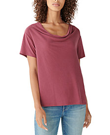 Lucky Brand Sandwashed Cowlneck Top