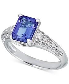 Ruby (1-3/4 ct. t.w.) & Diamond (1/2 ct. t.w.) Ring in 14k White Gold (Also in Emerald, Tanzanite, & Sapphire)