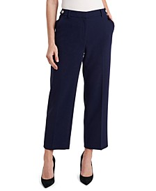 Fallon Cropped Crepe Pants, Created for Macy's