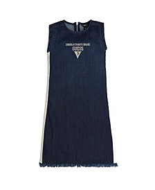 Big Girls Stretch Denim Shift Dress