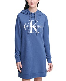 French Terry Logo Hoodie Dress