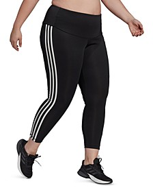 Plus-Size Designed 2 Move High-Rise 3-Stripes 7/8 Sport Tights