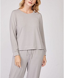 Pleated Back Long Sleeve Loungewear