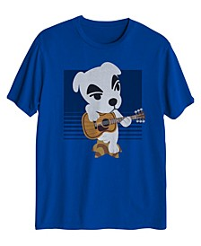 Big Boys Animal Crossing KK Slider Guitar T-shirt