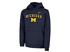 Michigan Wolverines Youth Club Fleece Pullover Hooded Sweatshirt
