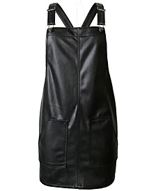 Juniors' Faux-Leather Skirtall