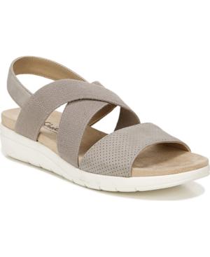 Plush Slingback Sandals Women's Shoes