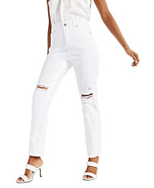 Ripped Straight-Leg Jeans, Created for Macy's