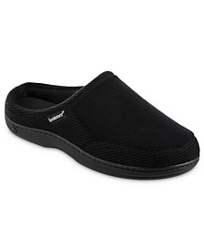 Men's Microterry and Waffle Travis Hoodback Slippers