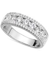 4aac2fc03477 Arabella Sterling Silver Swarovski Zirconia Three-Row Ring (2-1 10 ct