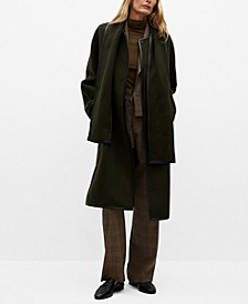 Women's Straight-Cut Wool Coat