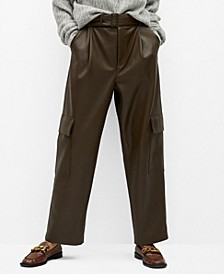 Women's Relaxed Fit Faux-Leather Pants