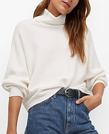 Women's Turtleneck Ribbed Sweater