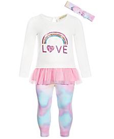 Baby Girls  2-Pc. Rainbow Tunic & Leggings Set