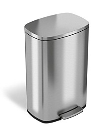50 L / 13.2 Gal Premium Stainless Steel Step Trash Can