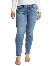 Trendy Plus Size Suki Mid-Rise Slim-Leg Jeans