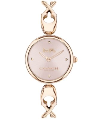 코치 여성 손목 시계 COACH Womens Carrol Carnation Gold-Tone Bangle Bracelet Watch 26mm