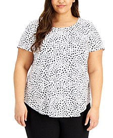 Plus Size Knit T-Shirt, Created for Macy's