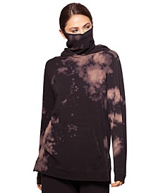 Tie-Dyed Hoodie With Removable Mask, Created for Macy's