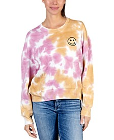 Smiley-Face Tie-Dyed Sweatshirt