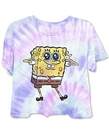 Juniors' Spongebob Tie-Dyed T-Shirt