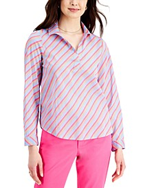 Cotton Striped Woven Top, Created for Macy's