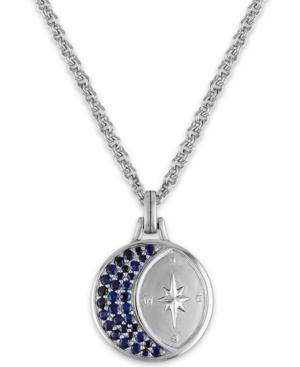 "Sapphire Crescent Moon & North Star 22"" Pendant Necklace (1-1/3 ct. t.w.)"