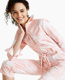 Petite Tie-Dyed Flight Suit, Created for Macy's