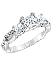 Diamond Engagement Ring (1 1/5 ct. t.w.) in 14K White Gold