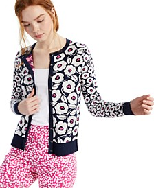 Floral-Print Cardigan, Created for Macy's