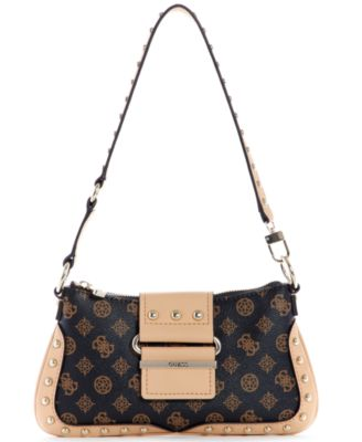 Greta Logo Top-Zip Shoulder Bag