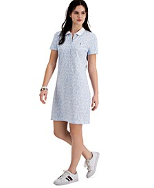 Floral-Print Polo Dress
