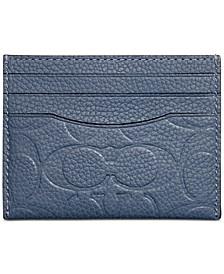 Men's Signature Leather Flat Card Case