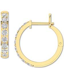 Diamond Hoop Earrings (1 ct. t.w.) in 14k Yellow Gold
