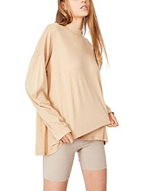 Women's 90s Longline Drop Shoulder Long Sleeve Top