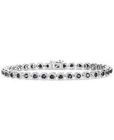 Black Diamond Tennis Bracelet (3 ct. t.w.) in Sterling Silver