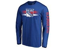 New York Rangers Men's Halftone Long Sleeve T-Shirt