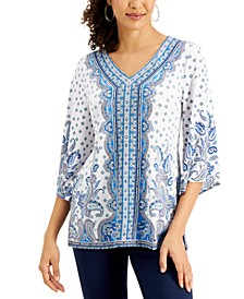 Printed Y-Neck Princess Top, Created for Macy's
