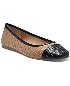 INC Jenaya Square-Toe Flats, Created for Macy's