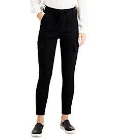 Juniors' High-Rise Cargo Skinny Jeans
