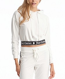 Women's Cropped Hooded Pullover