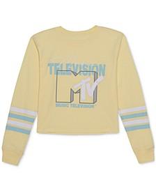 Juniors' MTV-Graphic Print Top