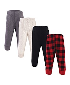 Boys and Girls Quilted Jogger Pants, Pack of 4