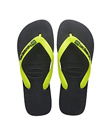 Kids Brazil Logo Flip Flop Sandals