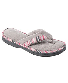 Isotoner Women's Microterry Mandy Thong Slippers