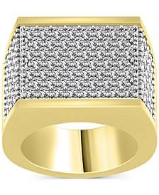 Men's Diamond Multi-Row Cluster Ring (4 ct. t.w.) in 10k Gold