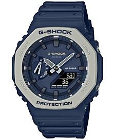 Men's Analog-Digital Navy Resin Strap Watch 45.4mm