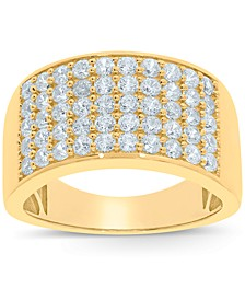 Men's Diamond Cluster Ring (2 ct. t.w.) in 10k White or Yellow Gold